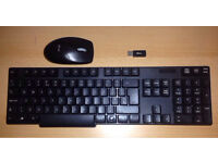 Wireless keyboard and mouse with USB mini receiver