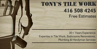 Tony's Tile and Renovations
