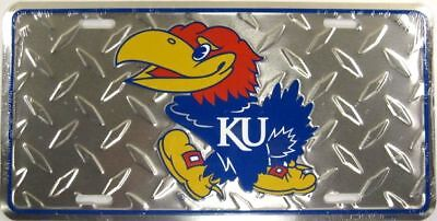 Kansas University Metal License Plate Ku Jayhawks L593