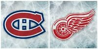 SOUS LE PRIX COUTANT  - RED WINGS @ CANADIENS - CENTER ICE SEATS Laval / North Shore Greater Montréal Preview