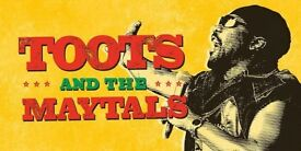 2 x Toots and Maytals tickets for Sale - ALEXANDRA PALACE