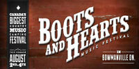 Boots and Hearts Tickets 4-day Pass, GA (2 Tickets)