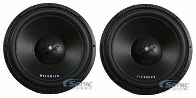 (2) Hifonics TW15D4 Σειρά Titan 1200W 15