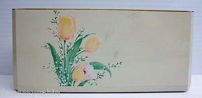 VTG Otagari Lacquerware Tulips Desk Set Pen and Memo Pad