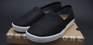 TOMS---Black Coated Canvas, Avalon Slip-Ons**Never worn, w tags