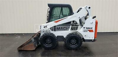 2017 Bobcat S570 Cab Skid Steer Wheel Loader Tire Machine Bobcat S570