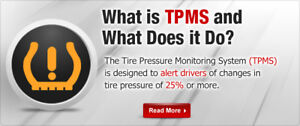 TPMS Tire Pressure Monitor System Service Repair Winter Wheels