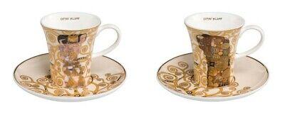 Goebel Gustav Klimt Die Erfüllung Espressotasse mit Untertasse 67011671 Goldrand