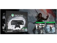 Xbox One-XBOX ONE Console 1TB Rise of the Tomb Raider +Tomb raider definitive from Amazon