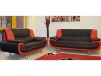 Brand New Palermo Corner Leather Sofa Suite Or 3 2 Seater Settee In Black White