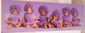 Qty 2 x Anne Geddes Mounted Baby Picture Frames
