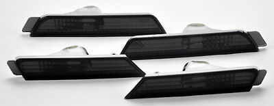 Chevy Camaro 2010-2014 Front & Rear Bumper Side Marker Lights - Smoke Smoked