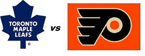 Leafs VS Flyers March 9th First Row Golds Sec 117