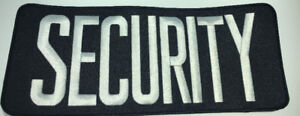 Large Embroider Security Patches
