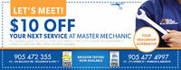 SAVE $10 OFF your Next SERVICE at Master Mechanic!