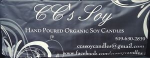 CC's soy hand poured organic candles, melts and bath bombs