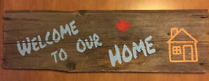 Weathered Wood Sign Welcome to Our Home