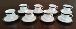 8 Piece Royal Worcester Howard cups and saucers