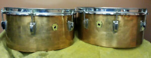 Super Cool Vintage 1964 Ludwig Copper Timbales!