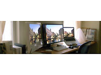 """NEC Colour Accurate 24"""" Widescreen LCD Monitor - perfect for editing images"""