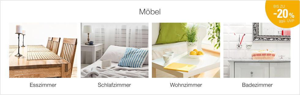 Möbel bis zu -20 % ggü. UVP