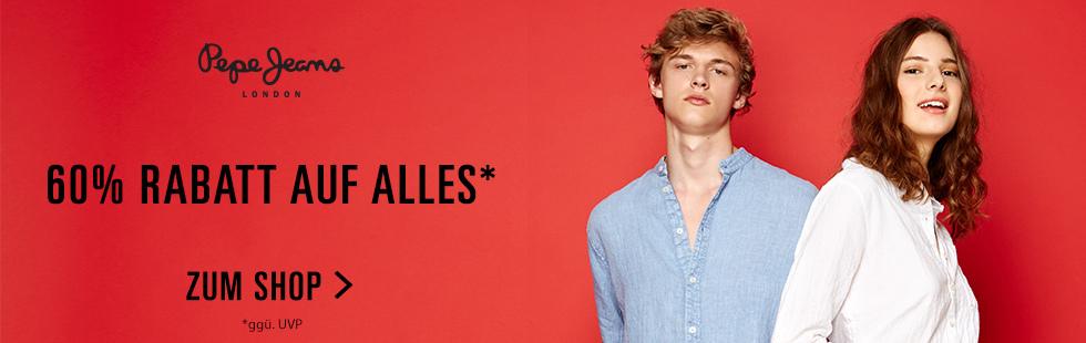 Pepe Jeans: 60% Rabatt auf alles*