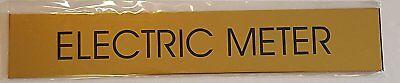 Electric Meter Room Sign Gold Aluminum