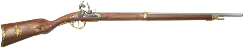 Denix Napoleonic  Model 1807 Replica Flintlock Hunting Rifle - Brass Finish