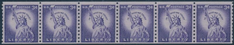 """#1057d """"liberty"""" Str/6 Tagged Small Holes; Pse Cert (look Magazine Coil) Br8955"""