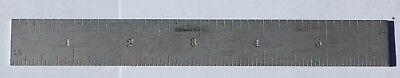 Starrett 6 Hardened Steel No. 604r Ruler 8163264 Graduations Usa