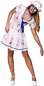 ZOMBIE / WALKING DEAD SAILOR FANCY DRESS OUTFIT SIZE EXTRA SMALL GREAT FOR HALLOWEEN
