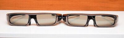 Two Sony TDG-BR50 Active 3D Glasses with Storage Cases - Works Perfectly & Clean