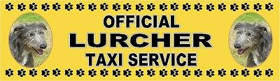 LURCHER OFFICIAL TAXI SERVICE  Dog Car Sticker  By Starprint