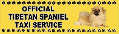 TIBETAN SPANIEL OFFICIAL TAXI SERVICE Car Sticker By Starprint
