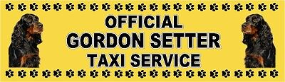 GORDON SETTER OFFICIAL TAXI SERVICE Dog Car Sticker  By Starprint