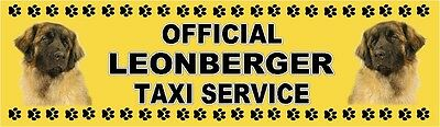 LEONBERGER OFFICIAL TAXI SERVICE  Dog Car Sticker  By Starprint