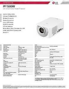 LG PF1500W LED Smart Home Theater Projector