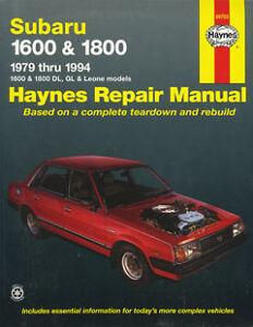 New-Haynes-Owners-Service-Repair-Workshop-Manual-Book-Subaru-1600-1800-1979-1994