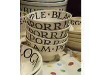 Emma bridgewater dessert bowls black toast x4 . Displayed only. Excellent condition