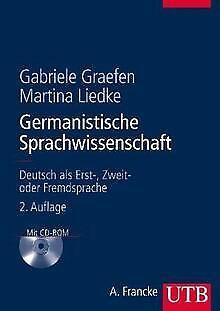 Germanistische Sprachwissenschaft: Deutsch als Erst... | Buch | Zustand sehr gut