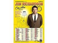 Jon Richardson. 2 tickets Cardiff St David's hall