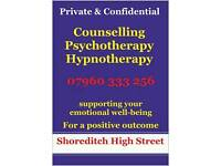 Counselling Shoreditch-Liverpool Street Station.Old Street.Spitalsfields.
