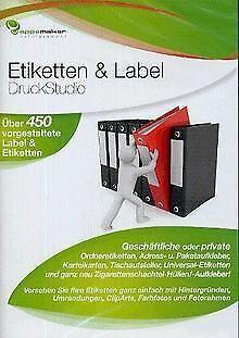 Etiketten & Label DruckStudio von dtp Entertain... | Software | Zustand sehr gut