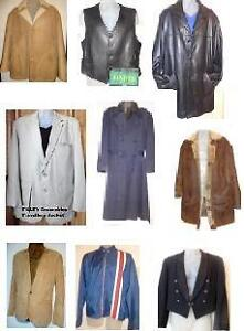 MENS QUALITY COATS JACKETS / LEATHERS SHEARLINGS SPRING TRENCHES / WINTER CLEARANCE NOW ON / OAKVILLE GTA / NEW & USED