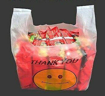 Custom make PLASTIC BAGS small quantity 3000 pc 5000 pc order possible.Singlet carrier shopping bag