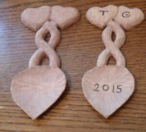 Celtic/Welch Style Hand Carved Heart Love Spoon $35 Peterborough Peterborough Area image 1
