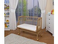 Waldin Co Sleeper Cot for New Born Baby - Solid Wood.