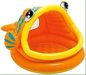 Baby pool-lazy fish