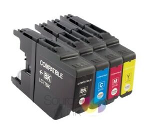 NEW COMPATIBLE BROTHER LC 75/79 INK CARTRIDGE FULL SET B/C/Y/MXL