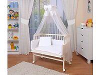 BABY ITEMS; co-sleeper cot, medela pump, door bouncers, angelcare bath, changing bag for SALE